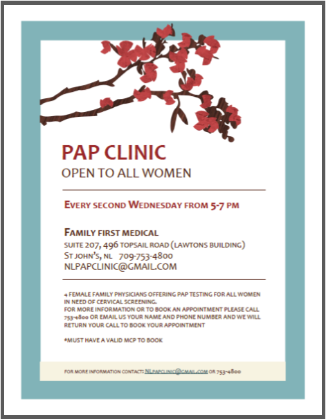 Pap Clinic open to all women